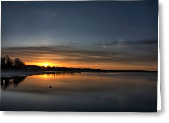 Waking To A Cold Sunrise Greeting Card