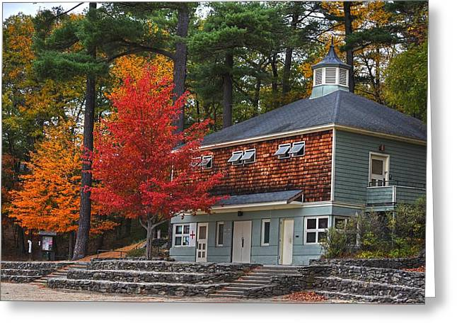 Walden Pond Bath House Concord Ma Greeting Card by Toby McGuire