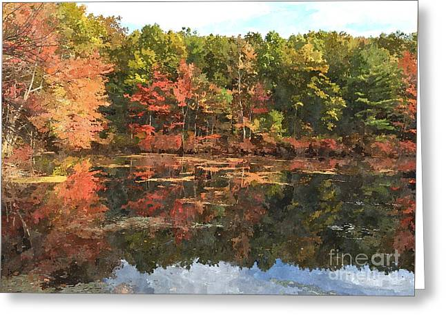 Walden Pond Greeting Card by Bryan Attewell