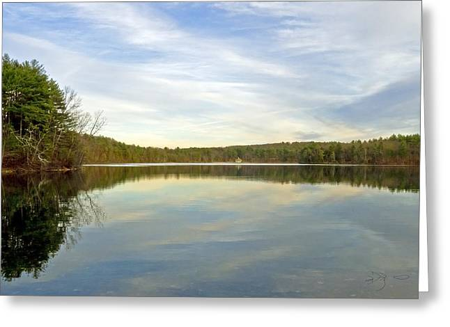 Walden Pond Greeting Card by Frank Winters