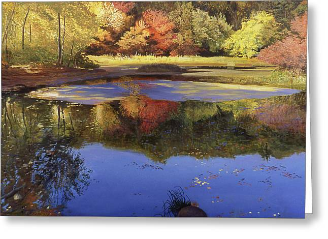 Walden Pond II Greeting Card by Art Chartow