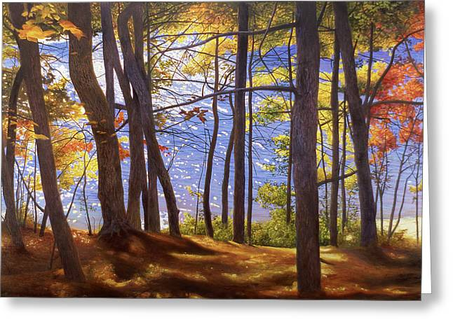 Walden Pond IIi Greeting Card by Art Chartow
