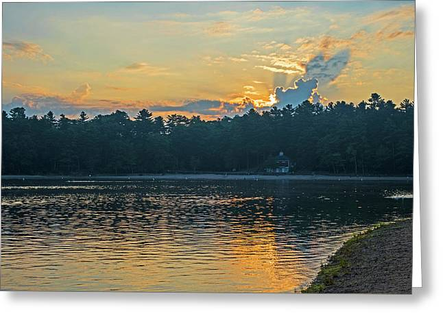 Walden Pond Sunrise Concord Ma Greeting Card