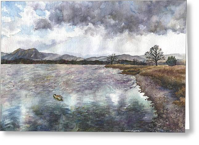 Walden Ponds On An April Evening Greeting Card