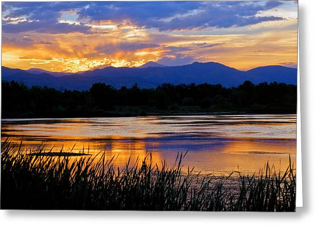 Walden Ponds Sunset 3 Greeting Card by Brian Kerls