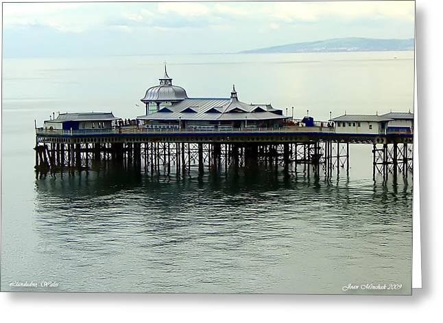 Greeting Card featuring the photograph Wales Boardwalk by Joan  Minchak