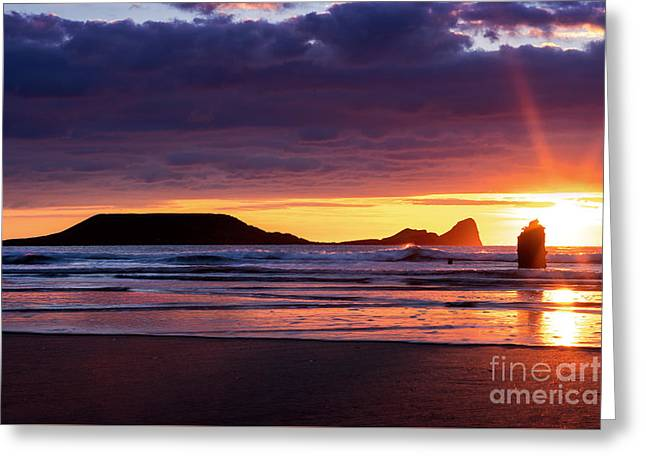 Wales Gower Coast Helvetia Greeting Card