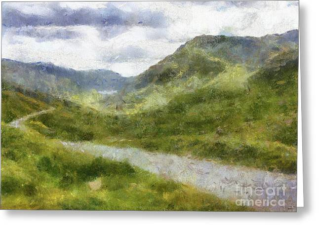 Wales, The Big Country By Sarah Kirk Greeting Card
