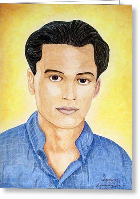 Walid Greeting Card by Susan Clausen