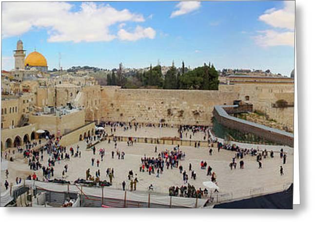Haram Al Sharif / Temple Mount Panorama - Israel / Palestine Greeting Card by Wietse Michiels