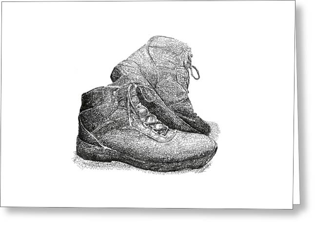 Walk A Mile In My Shoes-john Casanover Ms Project Greeting Card