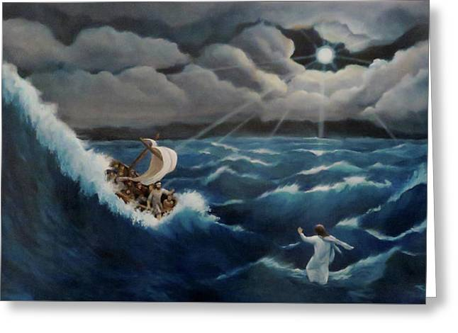 Walk In The Storm Greeting Card by Anita Ann Johnson