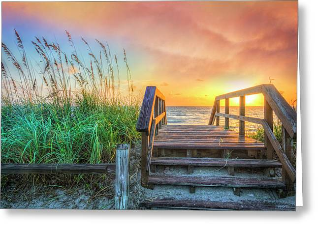 Walk Into Sunrise Greeting Card