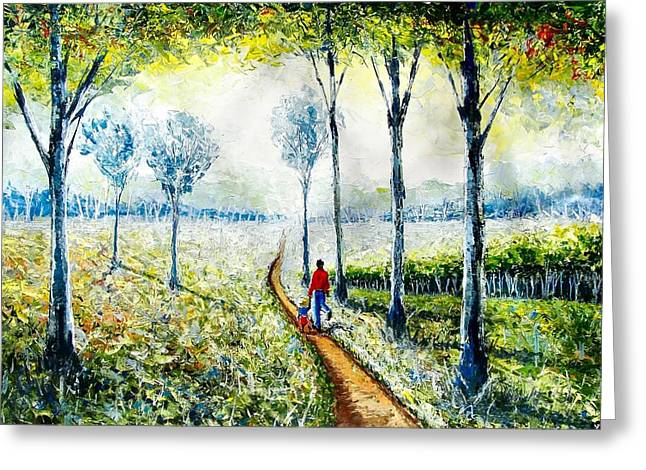 Walk Into The World Greeting Card