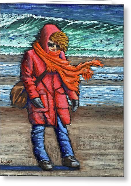 Walk On Beach Greeting Card