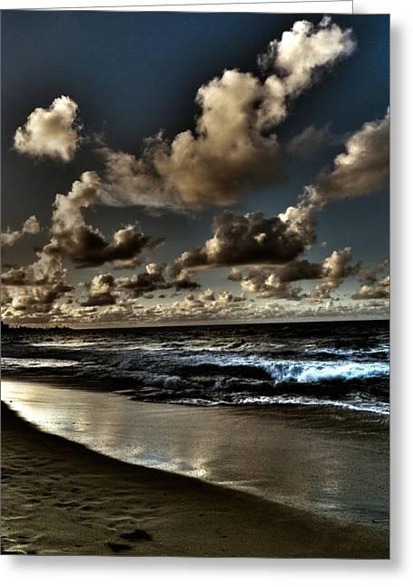 Walk On The Beach Greeting Card by Mauricio Jimenez
