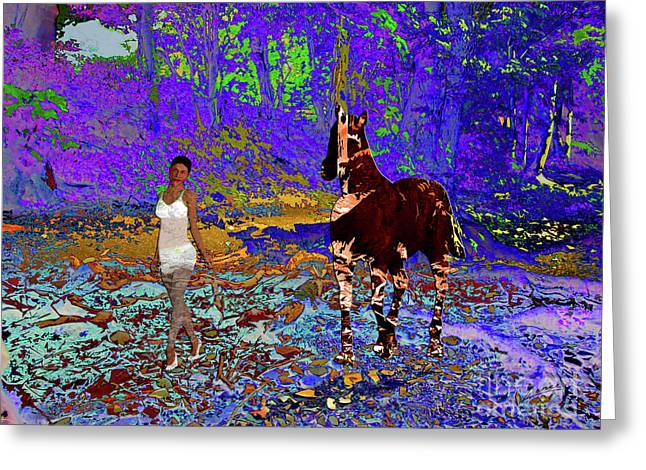 Walk The Enchanted Forest Greeting Card
