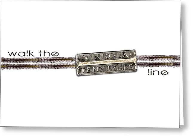 Walk The Line Greeting Card by Heather Applegate