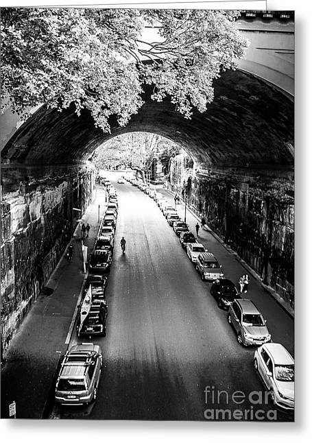 Greeting Card featuring the photograph Walk The Tunnel by Perry Webster