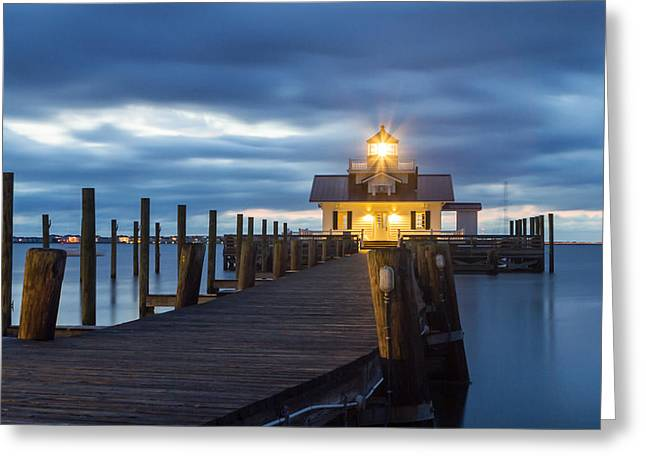 Walk To Roanoke Marshes Lighthouse Greeting Card