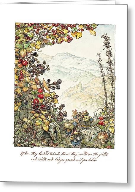 Walk To The High Hills Greeting Card by Brambly Hedge
