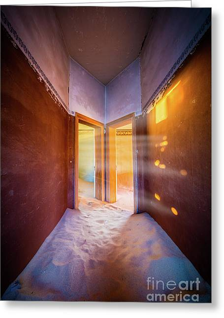 Walk Towards The Light Greeting Card by Inge Johnsson