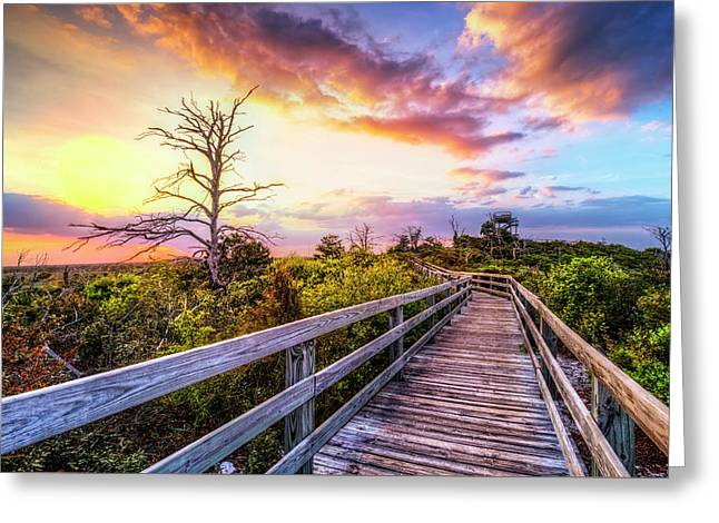 Walk Up Into Sunset Greeting Card