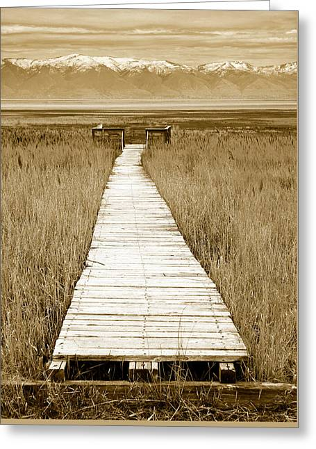 Walk With Me 1 Greeting Card by Marilyn Hunt