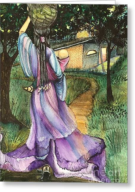 Walk With My Baby Greeting Card