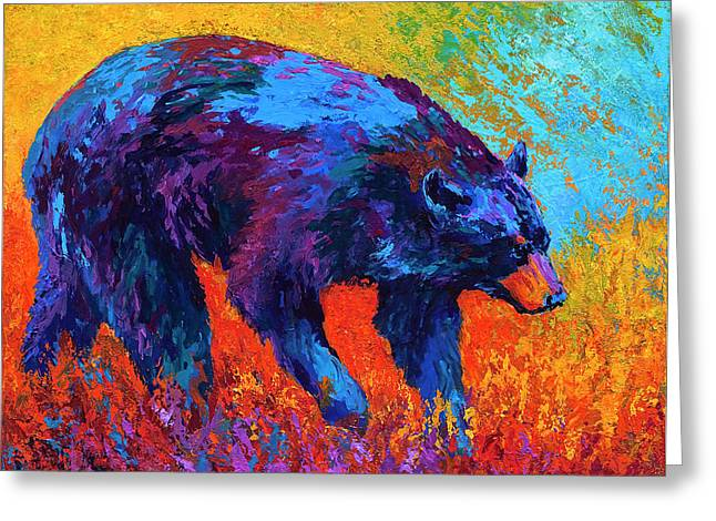 Bear Cub Greeting Cards - Walkabout Greeting Card by Marion Rose