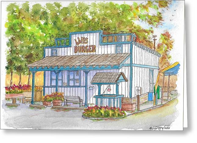 Walker Burger In Walker, California Greeting Card
