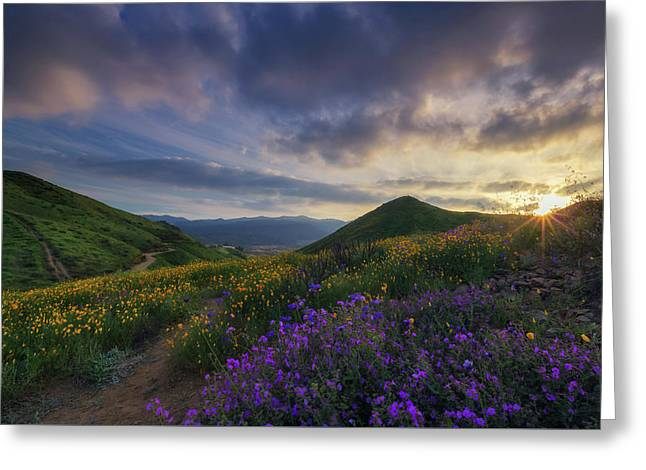 Greeting Card featuring the photograph Walker Canyon by Tassanee Angiolillo