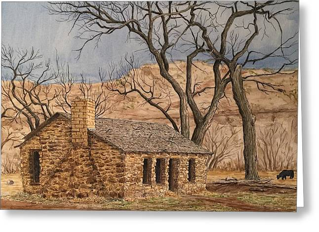 Walker Homestead In Escalante Canyon Greeting Card