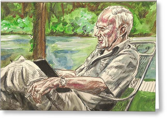 Walker Percy At The Lake Greeting Card
