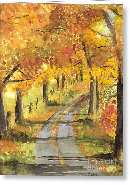 Walkin Greeting Card by Vivian  Mosley