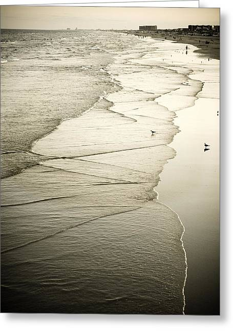 Walking Along The Beach At Sunrise Greeting Card by Marilyn Hunt