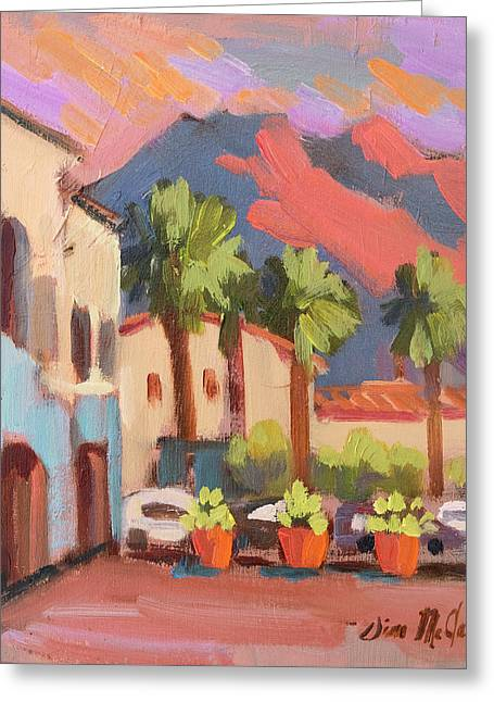 Walking Area In Old Town La Quinta Greeting Card