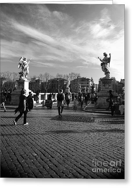Walking Around Rome Greeting Card by Stefano Senise