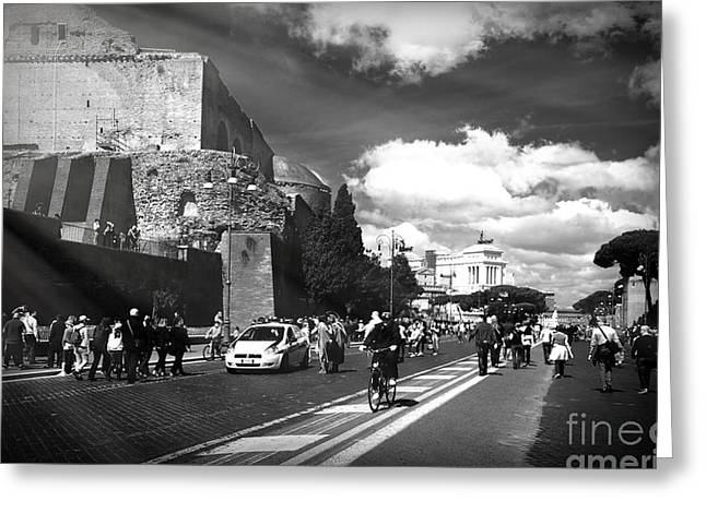 Walking Around The City Of Rome 2 Greeting Card by Stefano Senise
