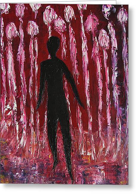 Walking Away Greeting Card