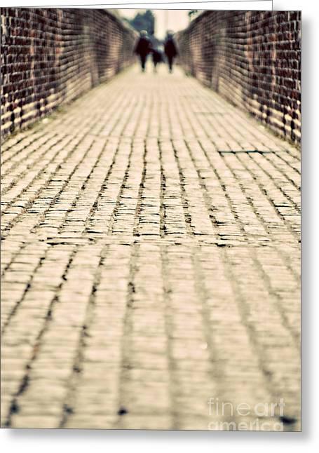 Walking Away Greeting Card by Meirion Matthias