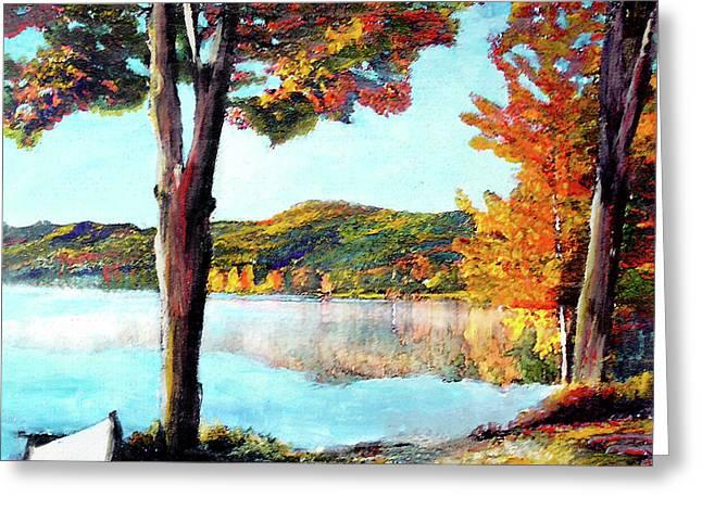 Walking Down Lake Champlain Greeting Card
