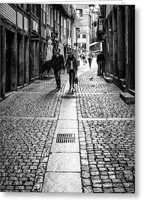 Walking Hand In Hand With My Lover Greeting Card
