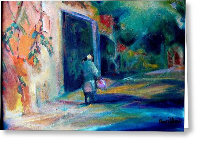 Walking Home Greeting Card by Pippi Johnson