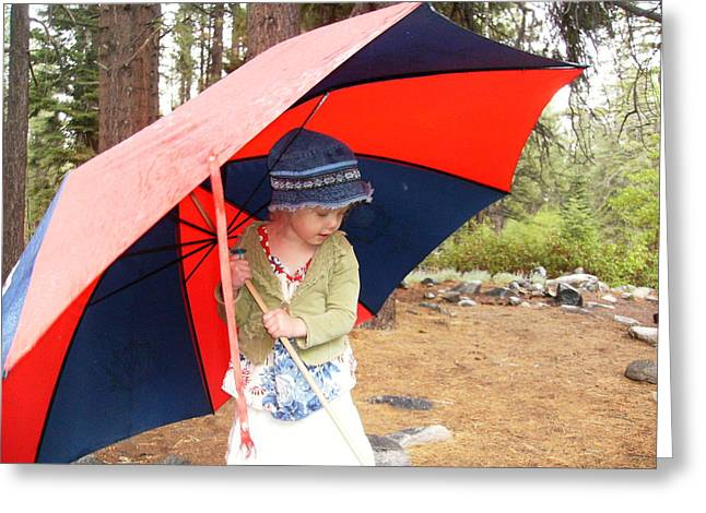 Greeting Card featuring the photograph Walking In The Rain by Dan Whittemore