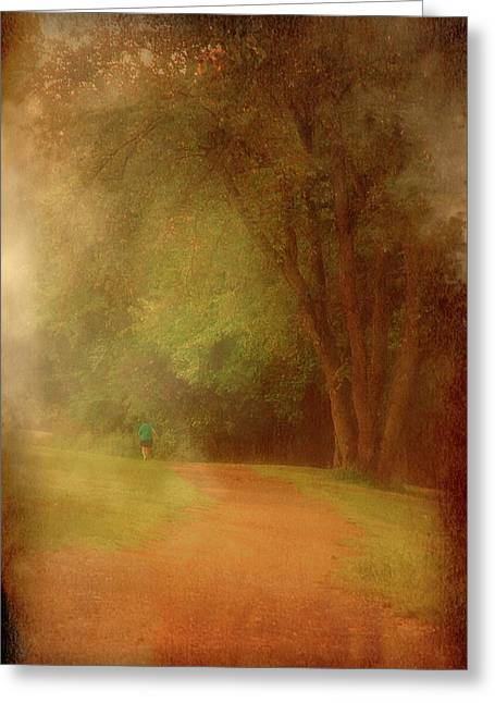 Walking Into A Dream - Holmdel Park Greeting Card