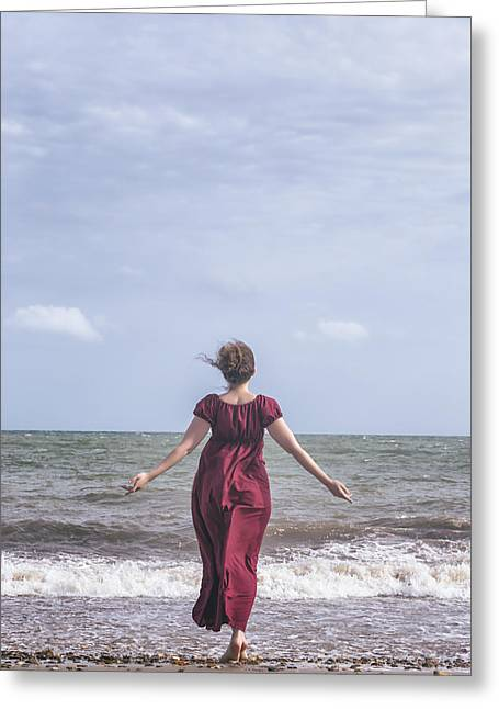 Walking Into The Sea Greeting Card by Joana Kruse