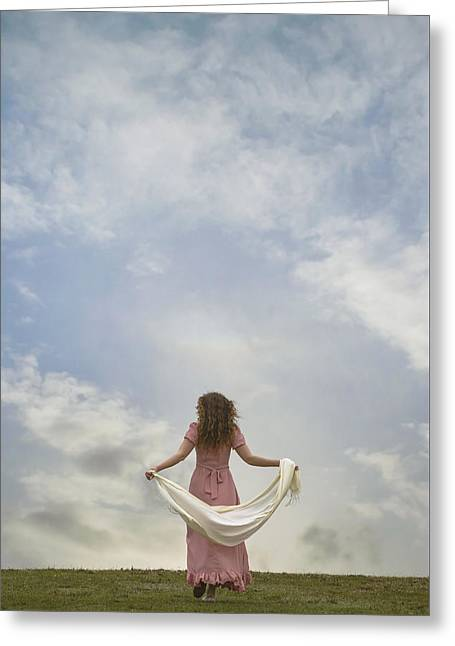 Walking Into The Sky Greeting Card