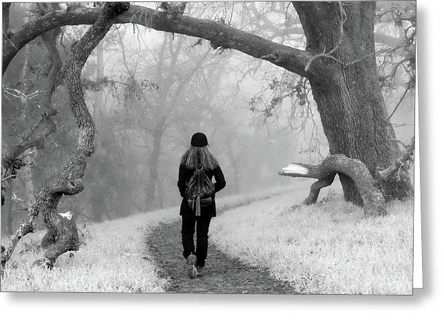 Walking Into The Unknown Greeting Card by Alessandra RC