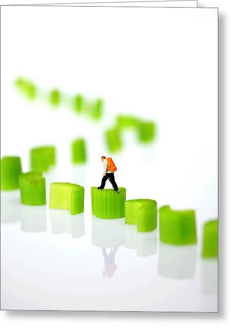 Walking On Celery  Greeting Card by Paul Ge